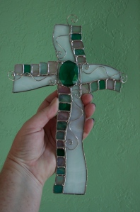 cross fancy green unlit