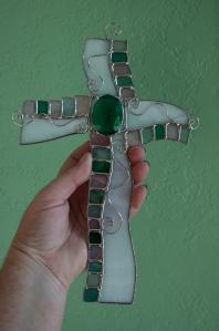 cross fancy green unlit