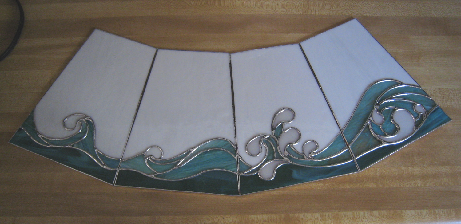 ocean wave stained glass posted in cool glass custom. Black Bedroom Furniture Sets. Home Design Ideas