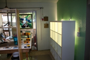 new glass work area