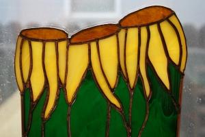 sunflower trio closeup