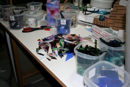 glass scrap sorting